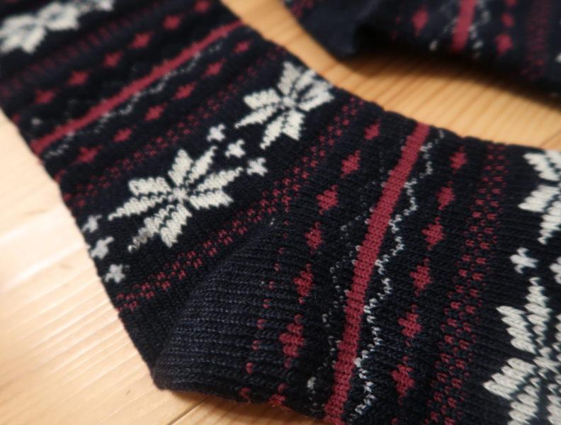 テスコム(TESCOM )の毛玉クリーナーを使って毛玉がきれいにとれた靴下